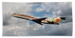 Continental Airlines Boeing 727 Takeoff At Lax Bath Towel