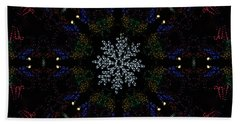 Continuous Christmas Lights Hand Towel
