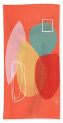 Coral Modern Abstract 1- Art By Linda Woods Bath Towel