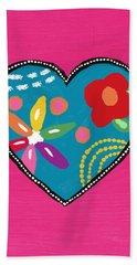 Corazon 2- Art By Linda Woods Bath Towel