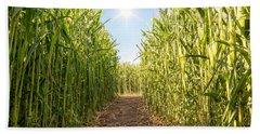 Corn Maze Bath Towel
