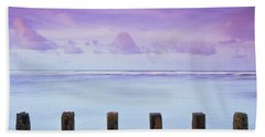 Cotton Candy Skies Over The Sea Bath Towel