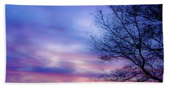 Cotton Candy Sunset In October Hand Towel