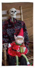 Country Christmas Greeters Hand Towel