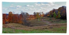 Hand Towel featuring the photograph Countryside In The Fall by Angela Murdock