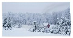 County Winter Scene  Bath Towel