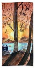 Couple Under Tree Hand Towel