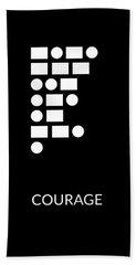 Courage Morse Code- Art By Linda Woods Bath Towel