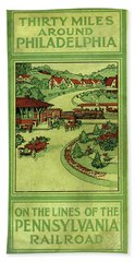 Cover Of Thirty Miles Around Philadelphia Hand Towel