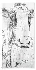 Cow Doodle Hand Towel