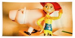 Cowgirl Figurine Bath Towel