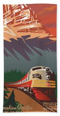 Cp Travel By Train Hand Towel