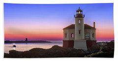 Crab Boat At The Bandon Lighthouse Hand Towel