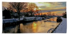 Cranfleet Canal Boats Hand Towel