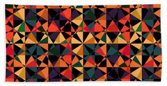 Crazy Psychedelic Art In Chaotic Visual Shapes - Efg214 Hand Towel