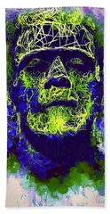 Frankenstein Watercolor Hand Towel