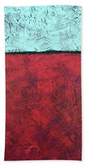 Crimson Earth Meets Pearl Sky Bath Towel