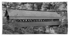 Crossing Whetstone Brook Black And White Hand Towel