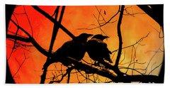 Crows Moon Hand Towel