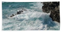 Crushing Waves In Porto Covo Hand Towel