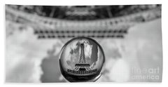 Crystal Ball And Eiffel Tower Hand Towel