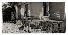 Cuba Village Water Carrier Hand Towel