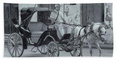 Cuban Horse Taxi Bath Towel