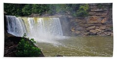 Hand Towel featuring the photograph Cumberland Falls Kentucky by Angela Murdock