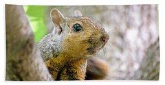 Cute Funny Head Squirrel Hand Towel