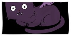 Cute Halloween Cat I Am The Night Fear Me Hand Towel