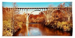Cuyahoga River At Autumn Hand Towel