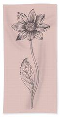 Dahlia Blush Pink Flower Bath Towel