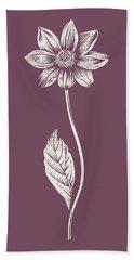 Dahlia Purple Flower Bath Towel