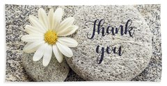 Daisy And Stone Thank You Hand Towel