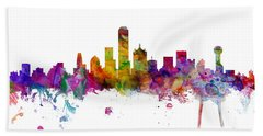 Dallas Texas Skyline Panoramic Bath Towel