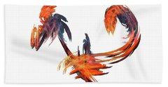 Dance Of The Birds Orange Bath Towel