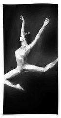 Dancer In Black And White Bath Towel