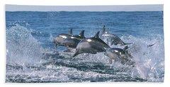 Dancing Dolphins Hand Towel