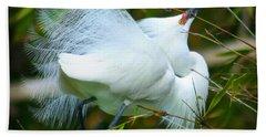 Dancing Egret Hand Towel