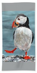 Dancing Puffin Hand Towel