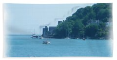 Dartmouth Castle Painting Bath Towel