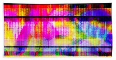 Databending #2 Hidden Messages Bath Towel