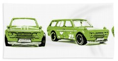 Datsun 510 Comic Strip Bath Towel