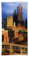 Dawn At City Hall Hand Towel