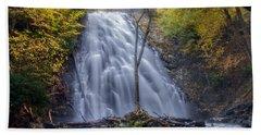 Dawn At Crabtree Falls Bath Towel
