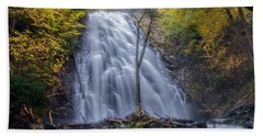 Dawn At Crabtree Falls Bath Towel