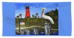 Aceo Dawn At Jupiter Inlet Lighthouse Florida 52a Hand Towel