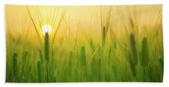 Dawn At The Wheat Field Bath Towel