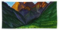 Sunrise In The Mountains Bath Towel