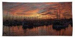 Dawn Monterey Bay California Hand Towel